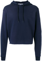 MSGM cropped drawstring hoodie - men - Cotton - L