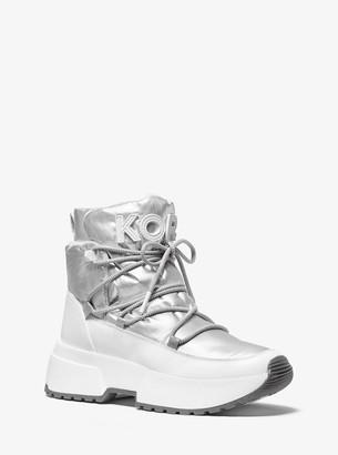 MICHAEL Michael Kors Cassia Metallic Nylon and Leather Boot