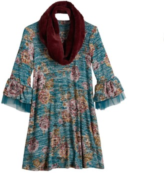 Knitworks Girls 7-16 Knit Works Swing Dress & Scarf