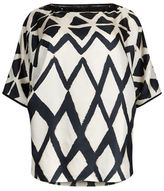 Marina Rinaldi Embellished Diamond Top