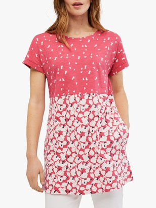 White Stuff Bay Abstract Print Tunic Top, Pink