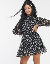 Asos Influence shirt dress with tiered skirt in floral print