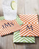 Caspari 100 Chevron Cocktail Napkins