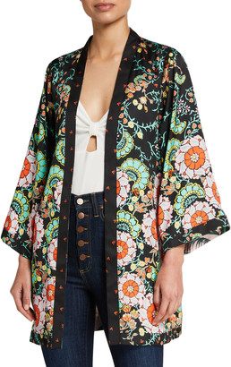 Alice + Olivia Lynn Reversible Short Kimono