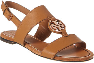 Tory Burch Metal Miller Two Band Leather Sandal