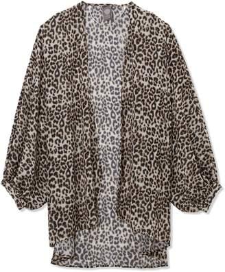 Leopard-print Chiffon Shrug