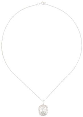 VICTORIA STRIGINI Medusa coin necklace