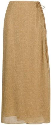 Oseree Lurex Wrap Skirt