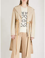 Loewe Patch pocket belted cotton trench coat