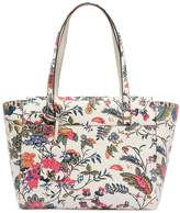 Tory Burch Small Parker Floral Printed Leather Tote