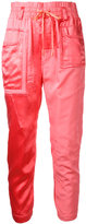 Haider Ackermann patch pocket track trousers - women - Cotton/Cupro - 36