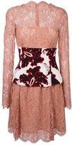 MSGM floral corset lace dress