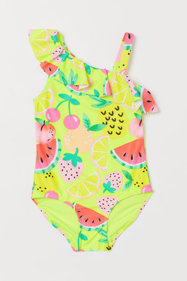 H&M Swimsuit with Ruffle - Yellow
