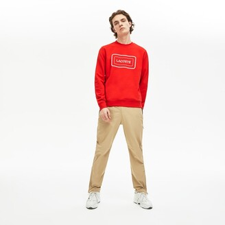 Lacoste Mens Motion Regular Fit Crew Neck Cotton Sweatshirt