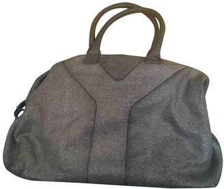 Saint Laurent Easy Grey Leather Handbags