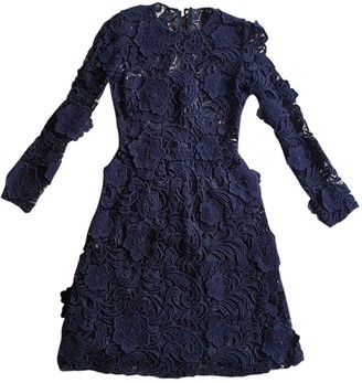 Prada Blue Lace Dresses