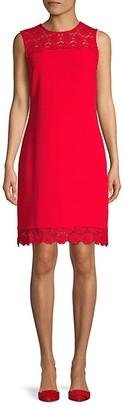 Karl Lagerfeld Paris Floral Lace Shift Dress