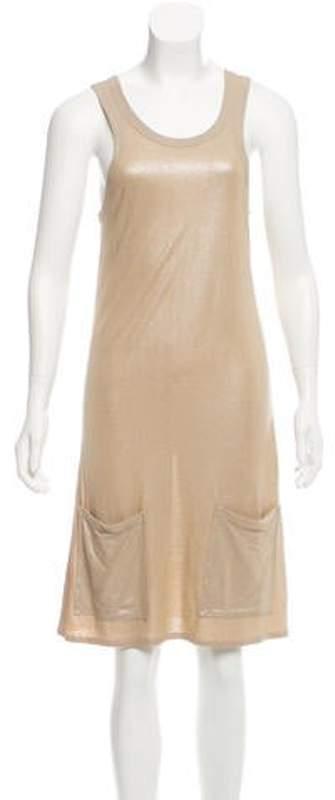 Stella McCartney Metallic Knee-Length Dress Gold Metallic Knee-Length Dress