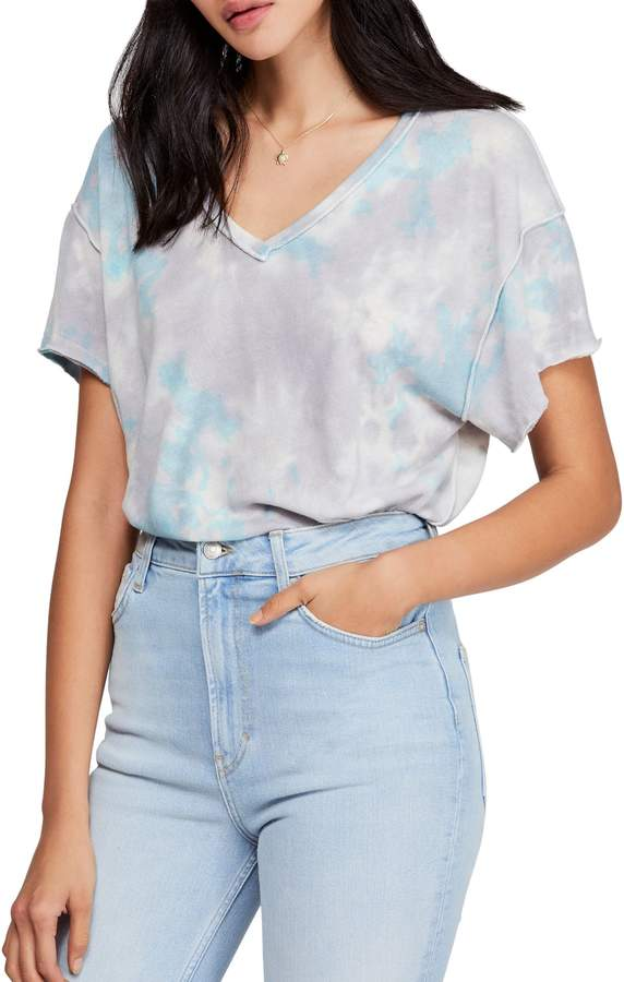 Free People Tie-Dyed Cotton-Blend Tee