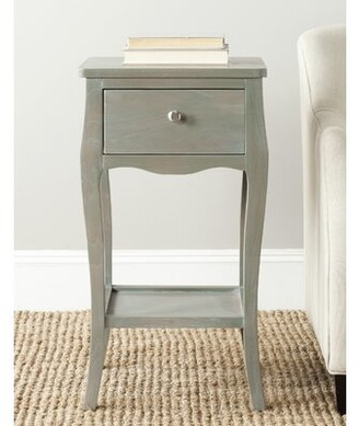 Beachcrest Home Joanna Solid Wood End Table with Storage Color: French Gray