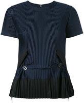 Sacai pleated top - women - Cotton/Polyester - 2