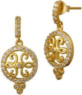 Freida Rothman Open Filigree Drop Earrings