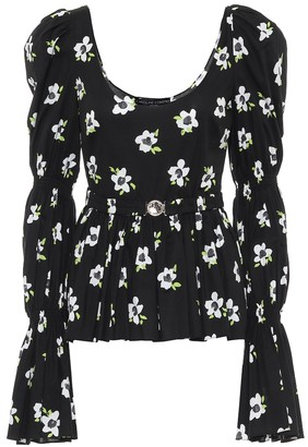 Caroline Constas Raine floral cotton top