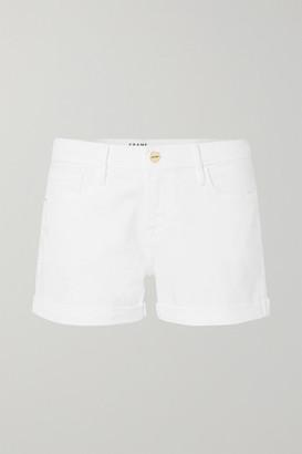 Frame Le Cutoff Denim Shorts - White