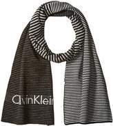 Calvin Klein Men's Ombre Logo Jacquard Muffler Scarf