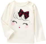 Gymboree Ivory Girl Bow Ruched Tee - Infant & Toddler