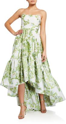 Mestiza New York Georgiana Strapless High-Low Gown