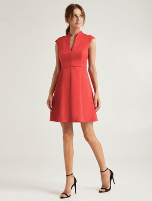 Halston Organic Notch Dress