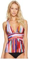 Athena Kaliedostripe Layna Tankini Top Women's Swimwear