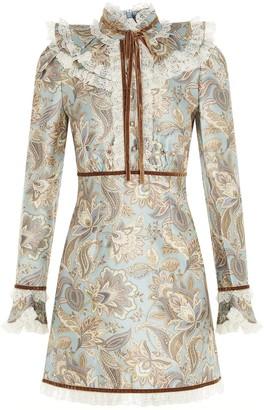 Zimmermann Ladybeetle Ruffle Collar Mini Dress