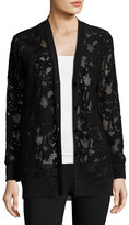 Fuzzi Lace Boyfriend Cardigan, Black