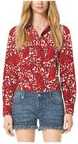 Michael Kors Paisley Button-Down Shirt Petite