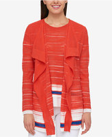 Tommy Hilfiger Striped Flyaway Cardigan, Created for Macy's