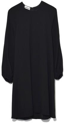 Co Peasant Sleeve Raglan Dress in Black