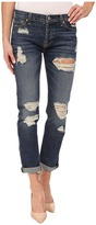 7 For All Mankind Josefina w/ Aggressive Destroy in Rigid Sanded Blue