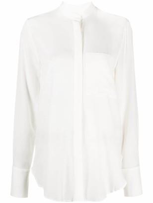 FEDERICA TOSI Long-Sleeve Silk Shirt