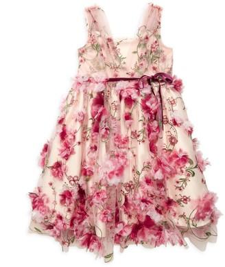 Marchesa Notte Mini Little Girl's Jasmine Floral Dress