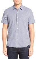 Jack Spade Men's Trim Fit Zigzag Dobby Sport Shirt