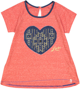 Lucky Brand Molten Lava Big Heart Tee - Girls