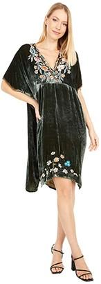 Johnny Was Serafina Velvet Effortless Kaftan Dress (Snake Eye) Women's Dress