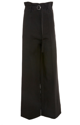 Bassike Linen High-Rise Straight-Leg Pants