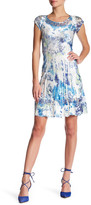 Komarov Cap Sleeve Scoop Neck Dress