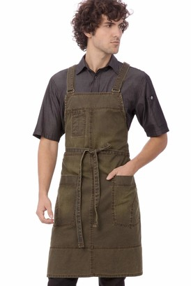 Chef Works Warren Cross-Back Bib Apron