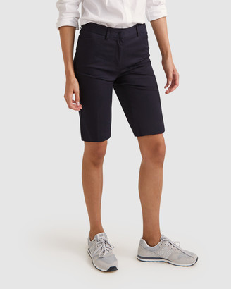 Sportscraft Women's Navy High-Waisted - Eva Shorts - Size One Size, 8 at The Iconic
