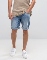 Selected Denim Shorts In Washed Blue