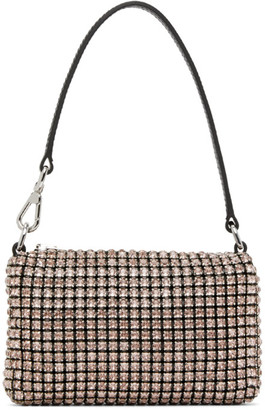 Alexander Wang Black and Pink Mini Rhinestone Wangloc Bag